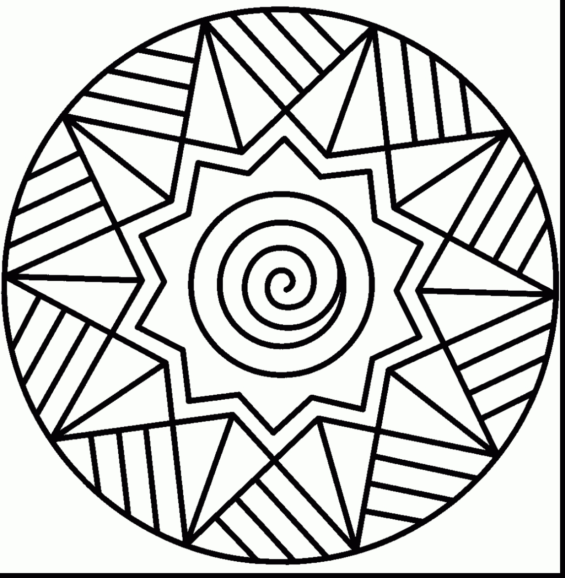 1147x1173 Awesome Mandala Coloring Pages For Kindergarten Collection