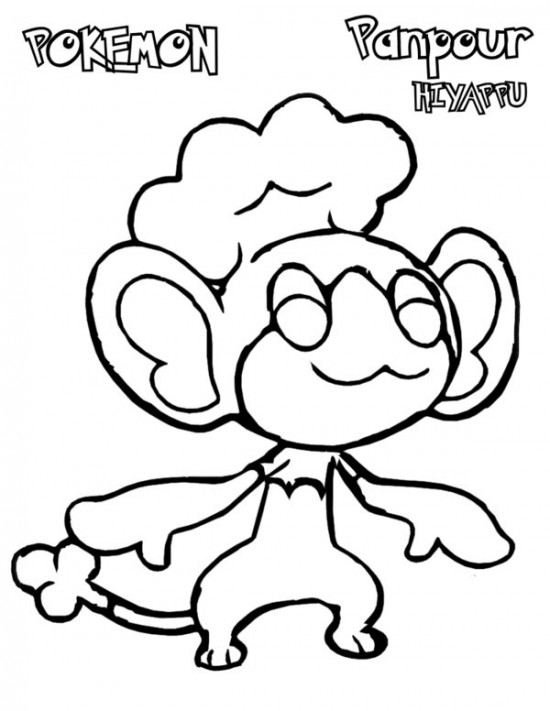 550x711 Pokemon White Coloring Pages
