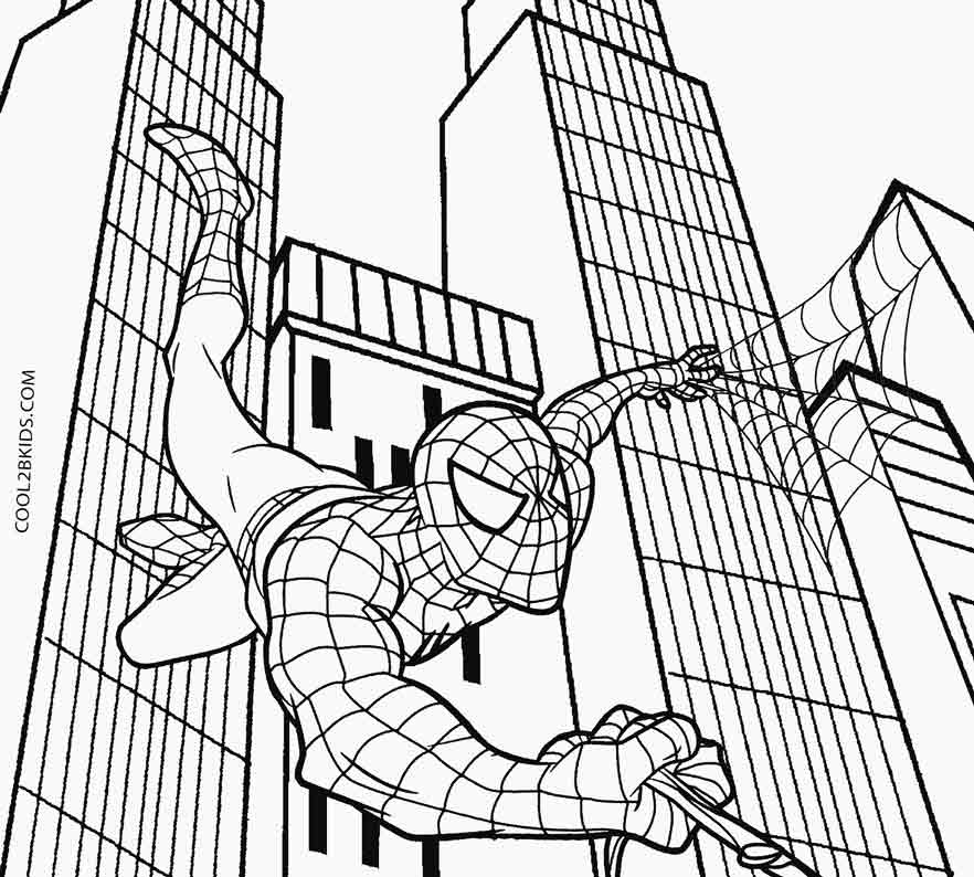 882x794 Printable Spiderman Coloring Pages For Kids