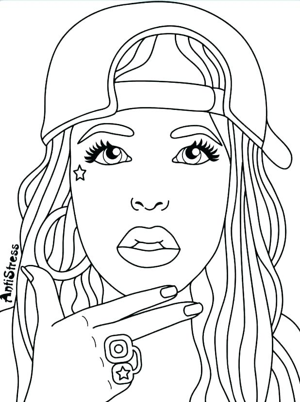 618x830 Coloring Pages For Women Beautiful Woman Face Coloring Pages Grown
