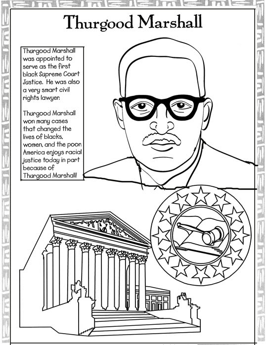 538x698 Thurgood Marshall Coloring Page