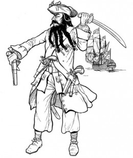 260x310 Kids Pirates Coloring Pages Free Colouring Pictures To Print