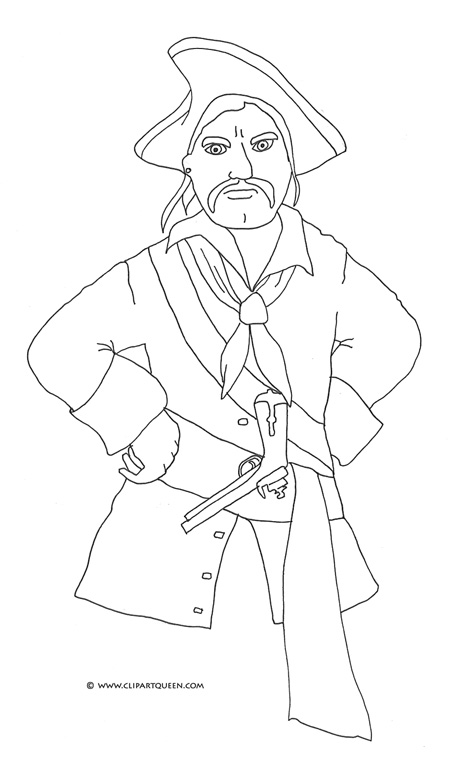 460x765 Pirate Coloring Pages