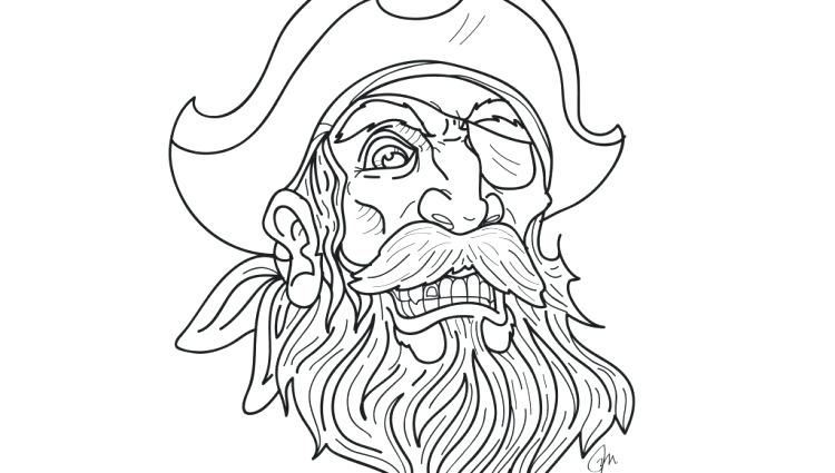 750x425 Pirate Hat Coloring Page X Coloring Pages Christmas For Adults