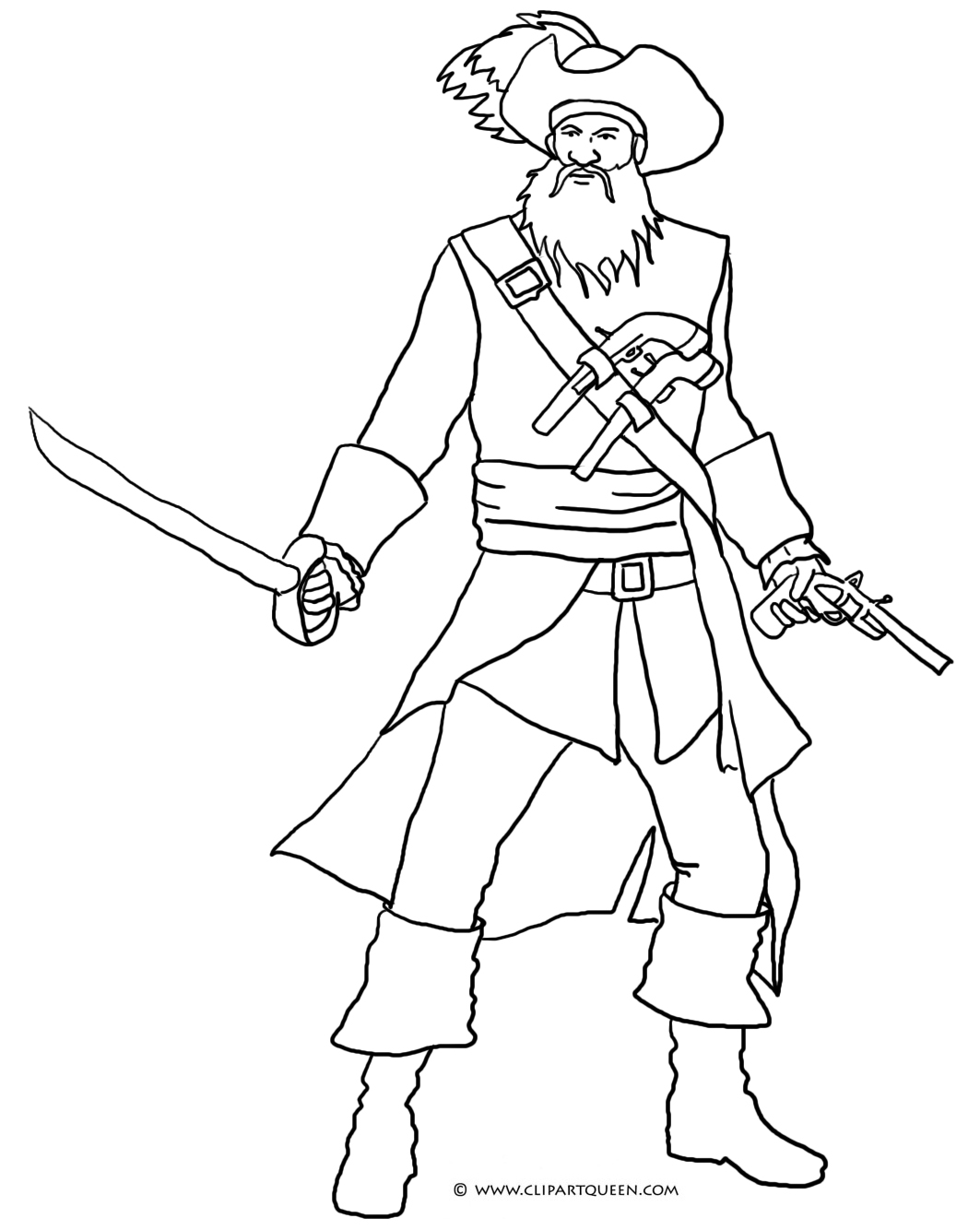 1063x1334 Blackbeard Pirate Coloring Pages