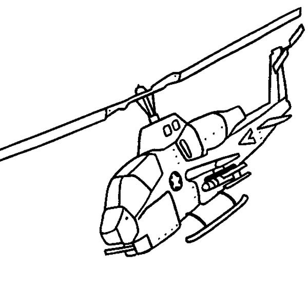 Blackhawk Helicopter Coloring Pages