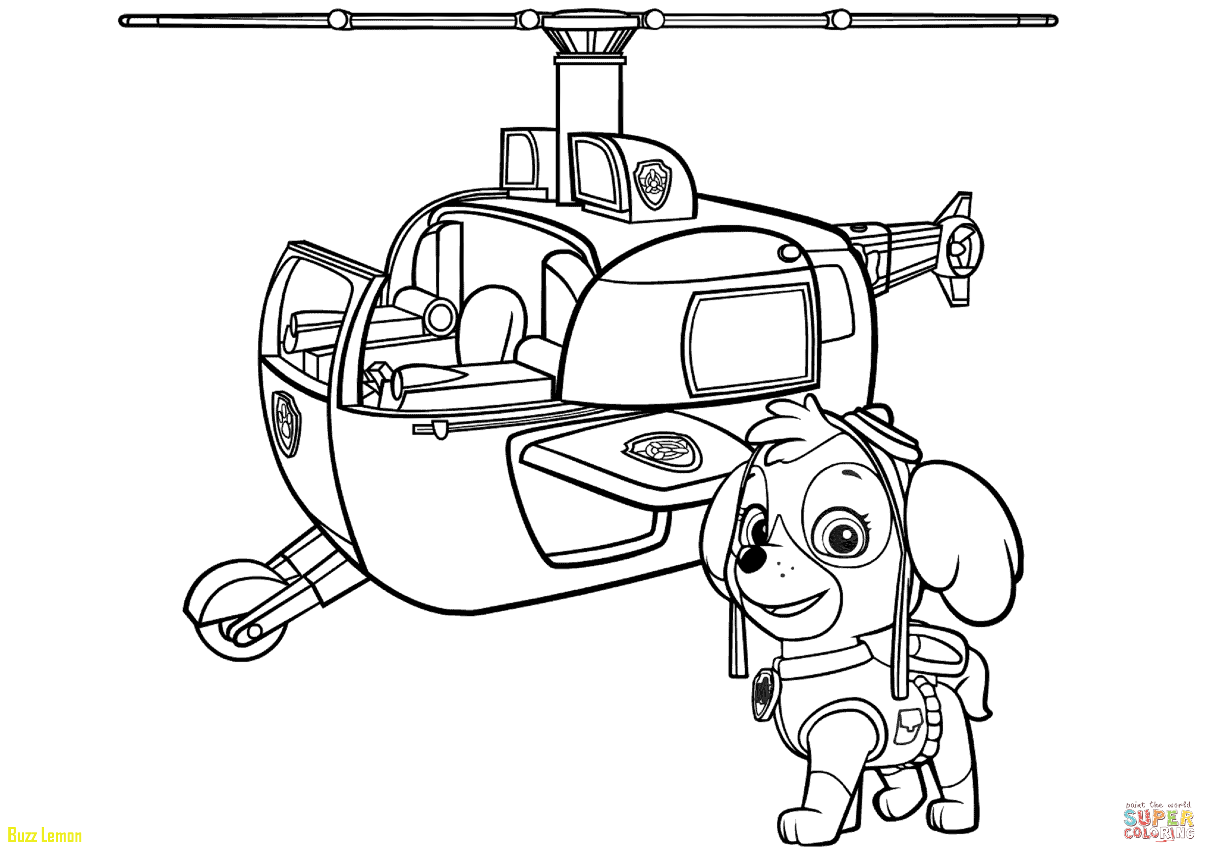 2461x1740 Coloring Page Helicopter New Paw Patrol Skye S Helicopter Coloring