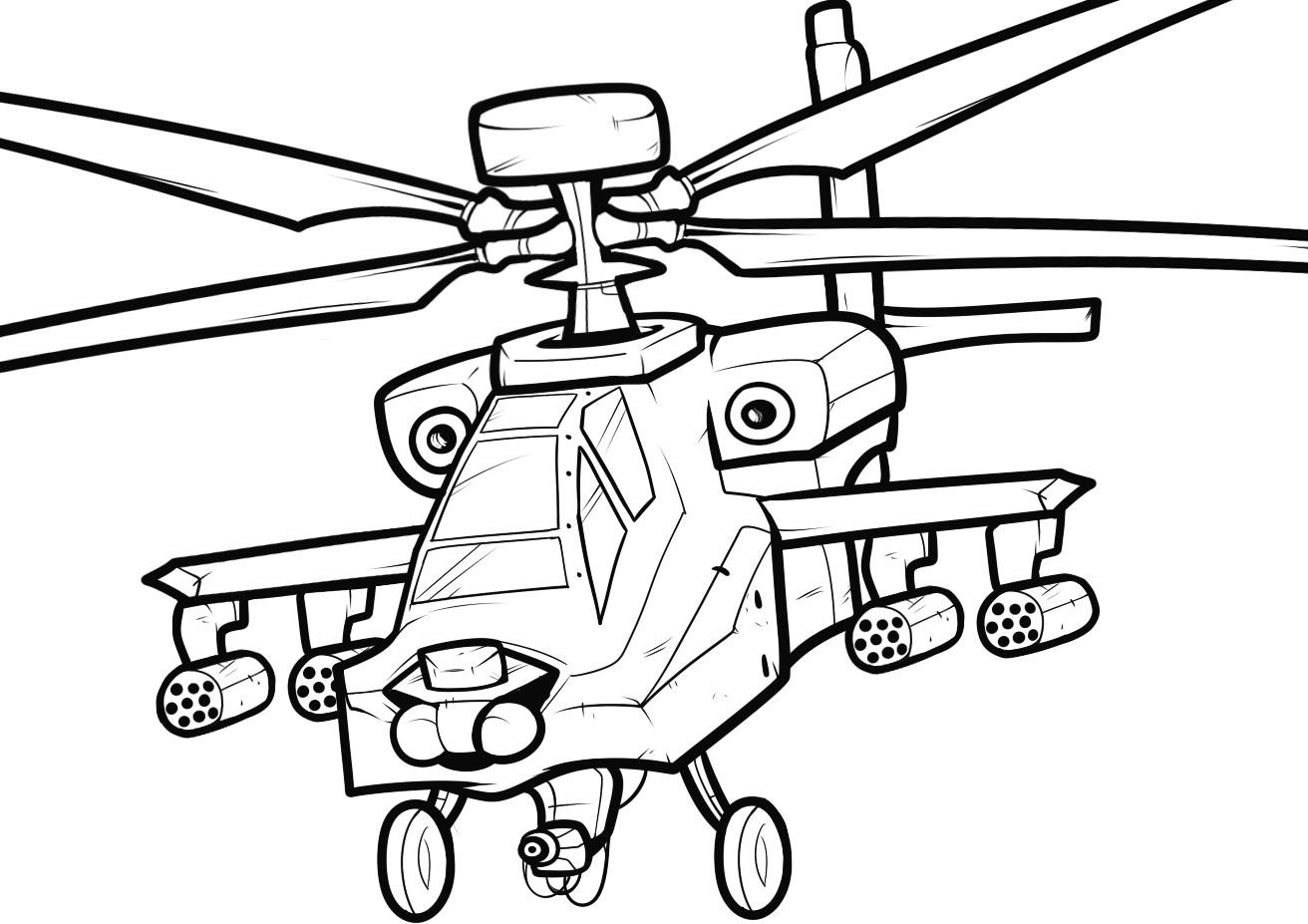 Blackhawk Helicopter Coloring Pages At Getdrawings Free Download
