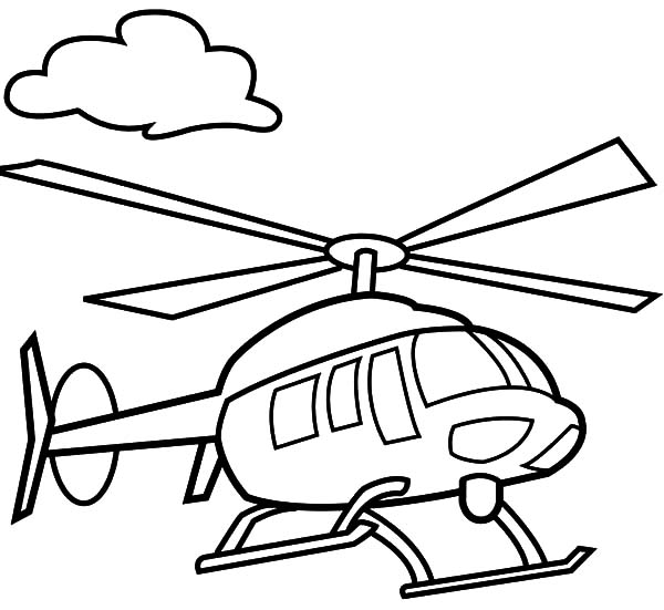 600x551 Drawn Helicopter Colouring Page