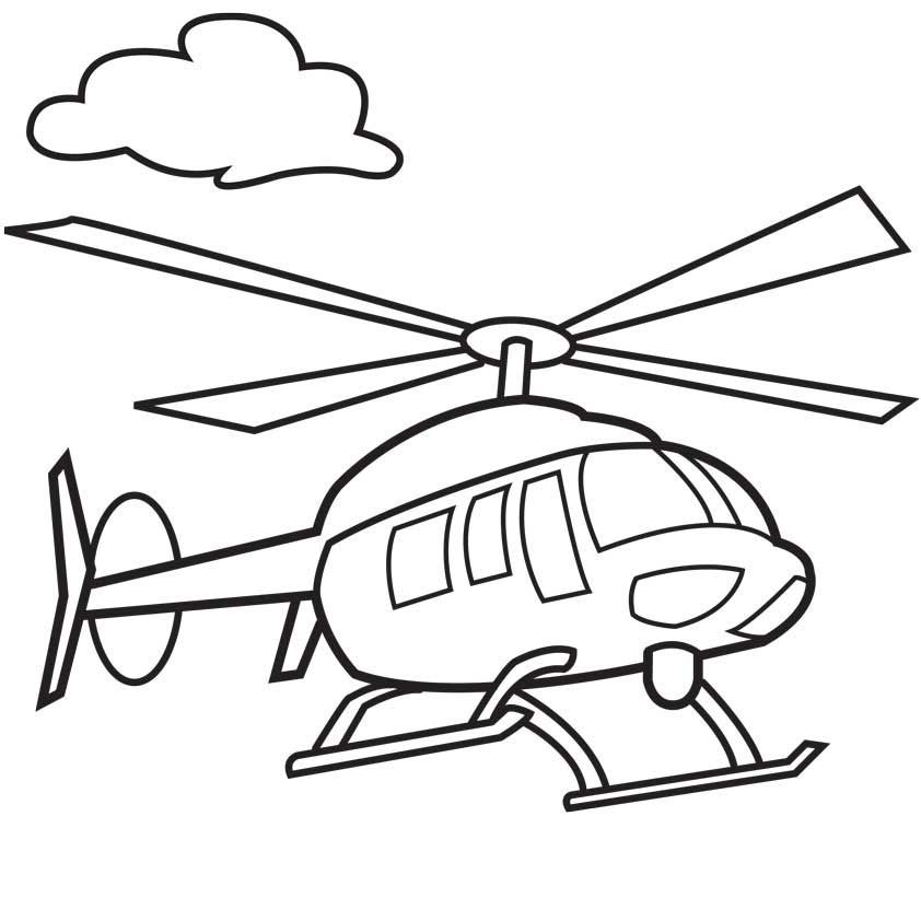 842x842 Helicopter Coloring Page