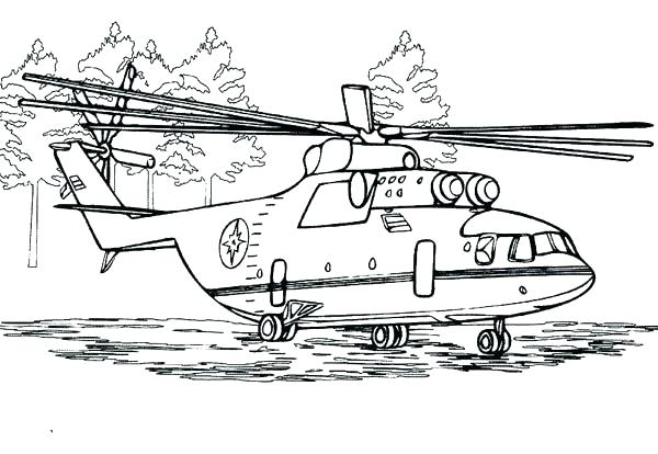 600x414 Helicopter Coloring Page Helicopter Coloring Pages With Drawn