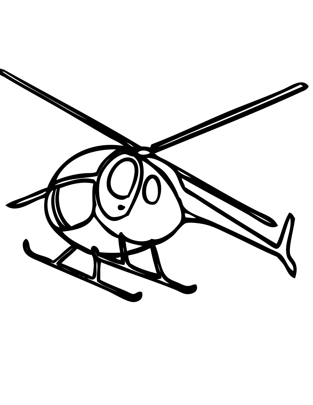 1275x1650 Helicopter Coloring Pages