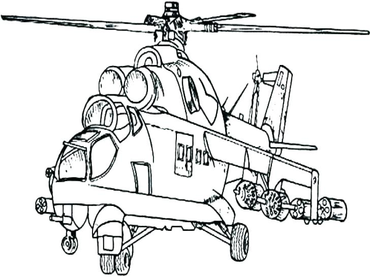 728x546 Helicopter Coloring Pages