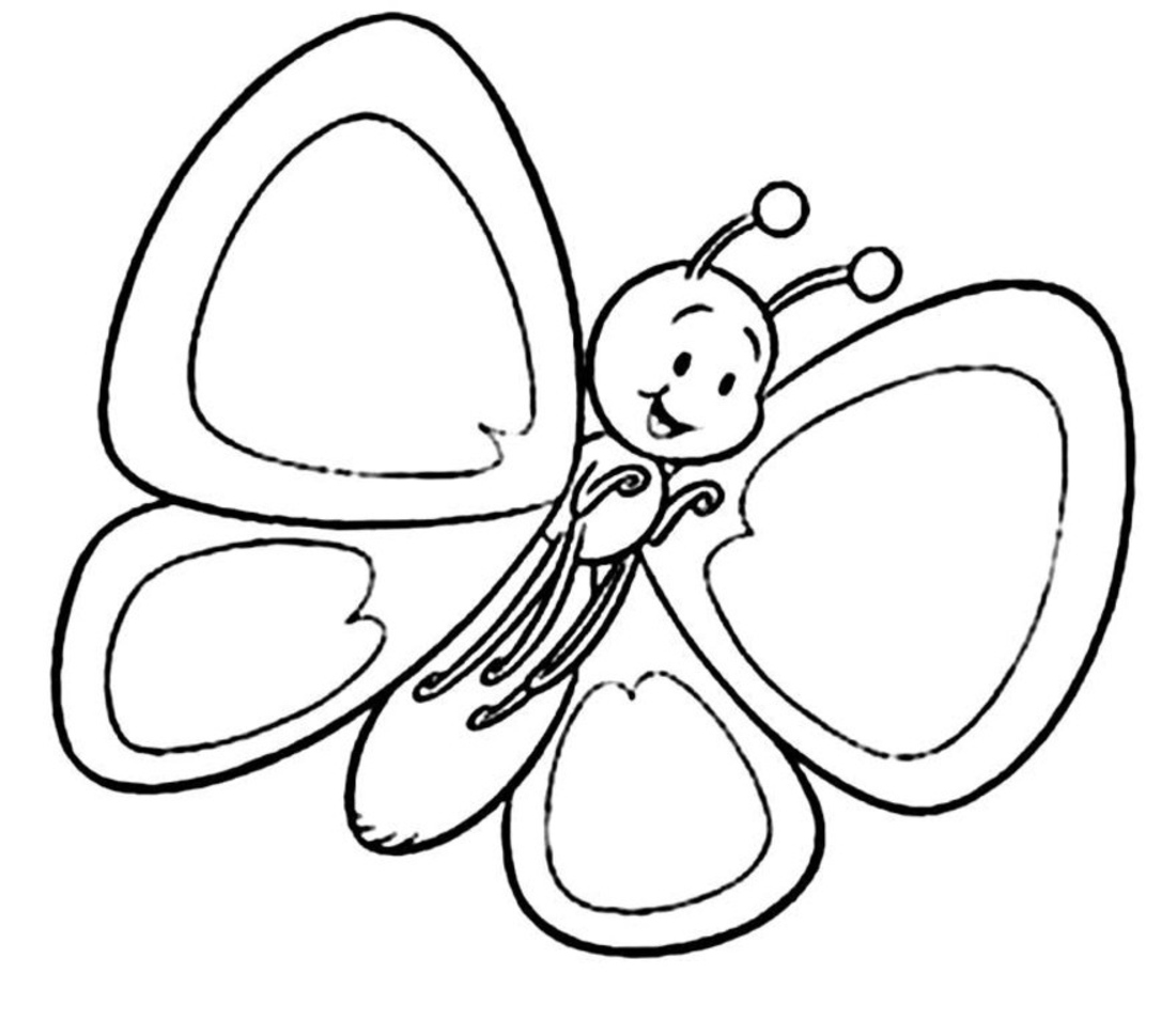 1100x955 Butterflies Coloring Pages