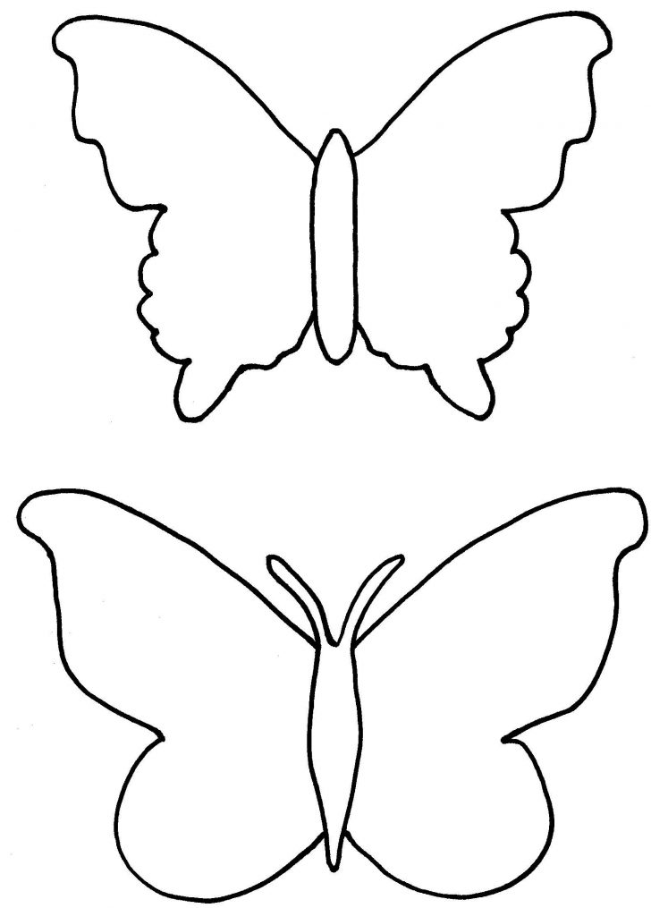 728x1015 Butterfly Outline Stencil Monarch And Silhouette Template