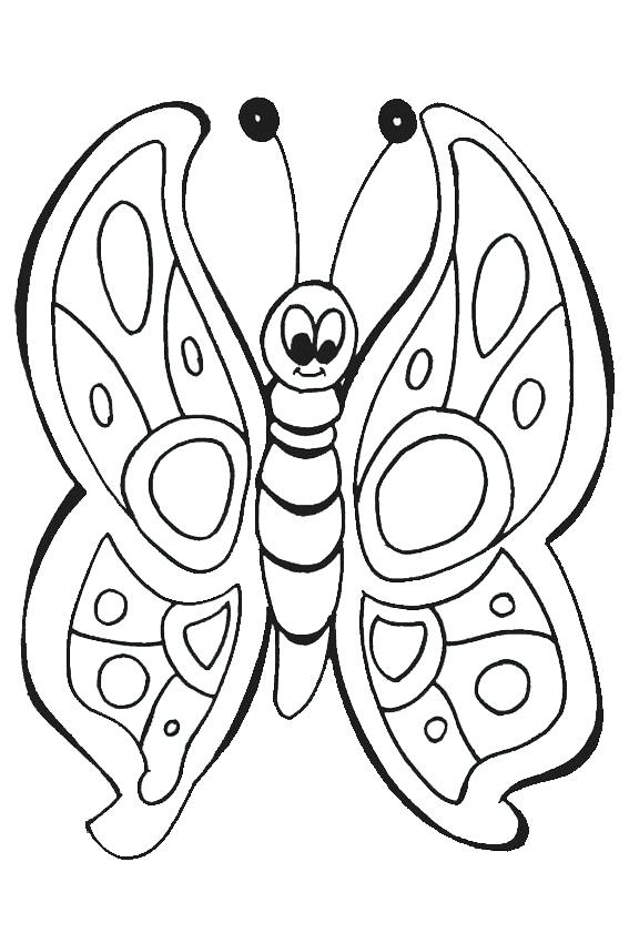 567x850 Butterfly Pictures To Color Also Blank Butterfly Coloring Page