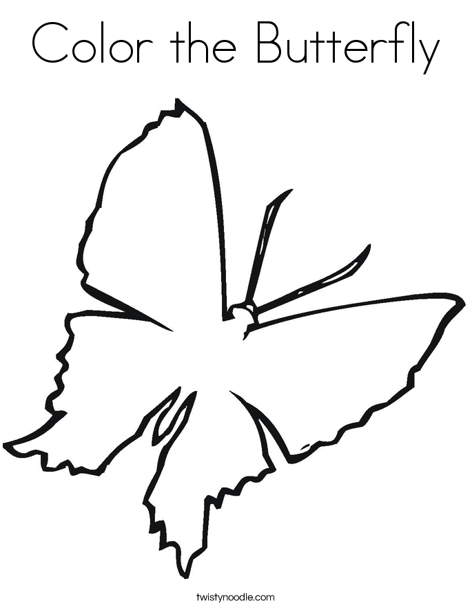 685x886 Color The Butterfly Coloring Page