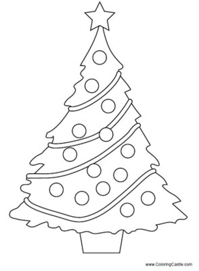 639x870 Blank Christmas Tree Coloring Pages