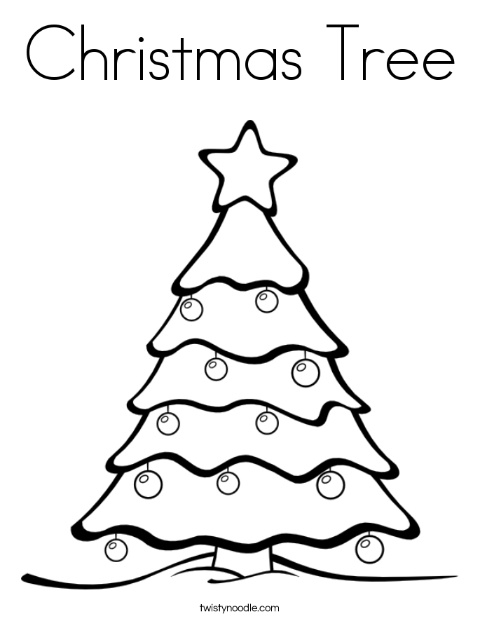 685x886 Christmas Tree Coloring Page