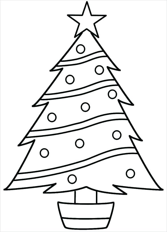 585x814 Christmas Tree Coloring Page Blank Tree Coloring Page Free
