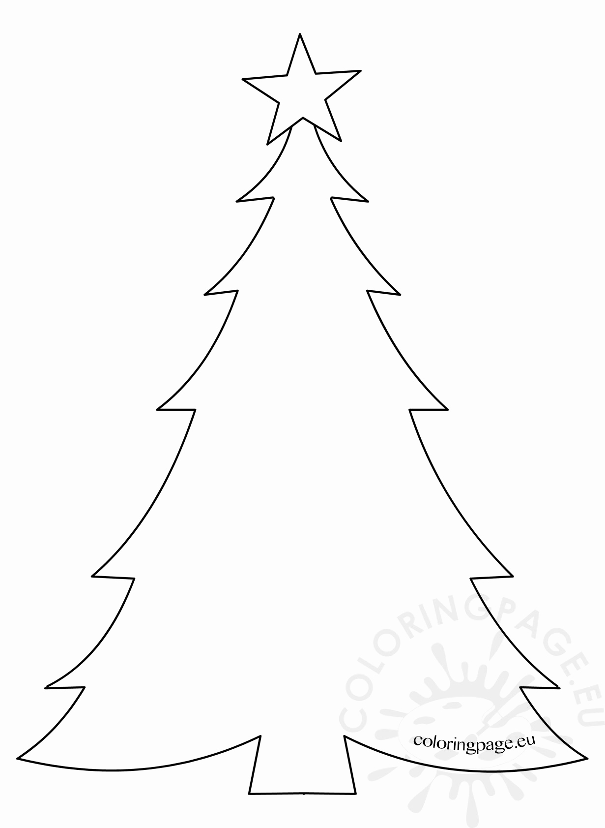 Blank Christmas Tree Coloring Page at GetDrawings | Free ...