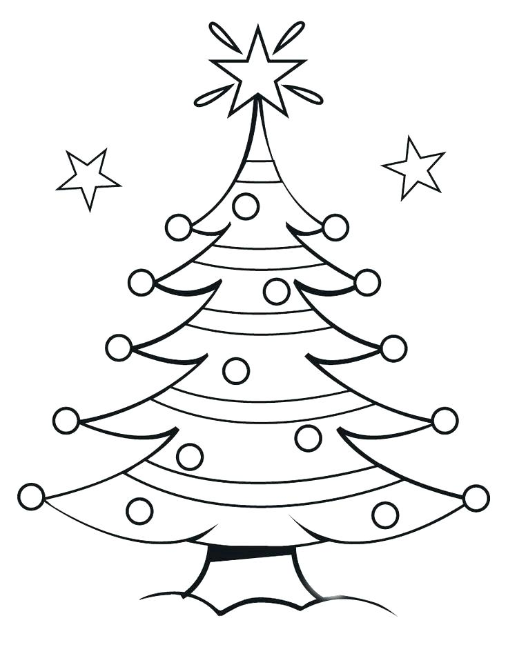 736x951 Christmas Trees Coloring Pages Blank Tree Coloring Page Decorating