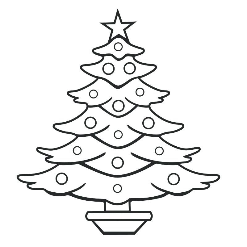 800x800 Blank Christmas Tree Coloring Page