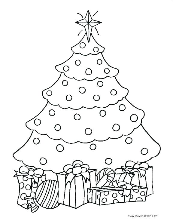 576x745 Christmas Tree Coloring Page Free