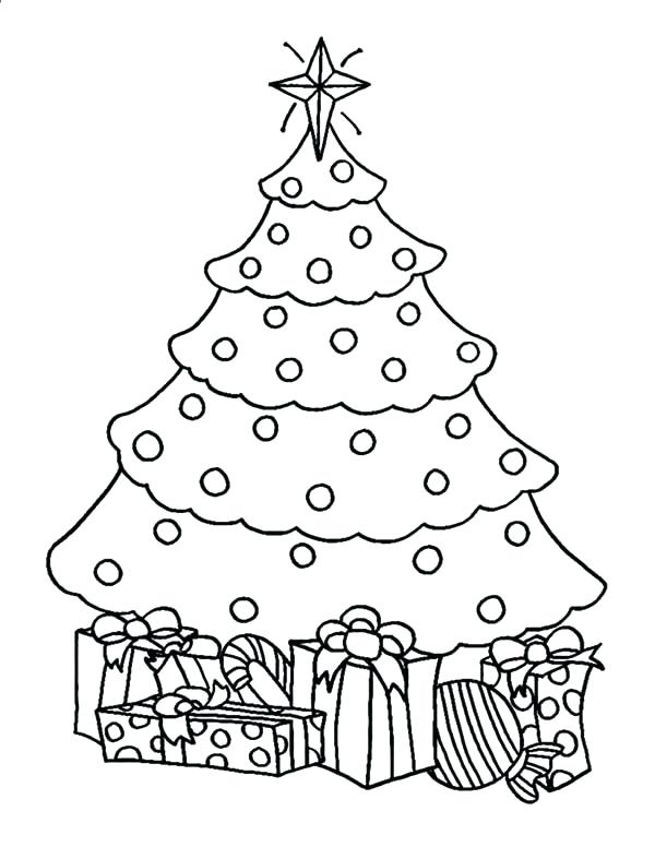 600x776 Christmas Tree Coloring Page