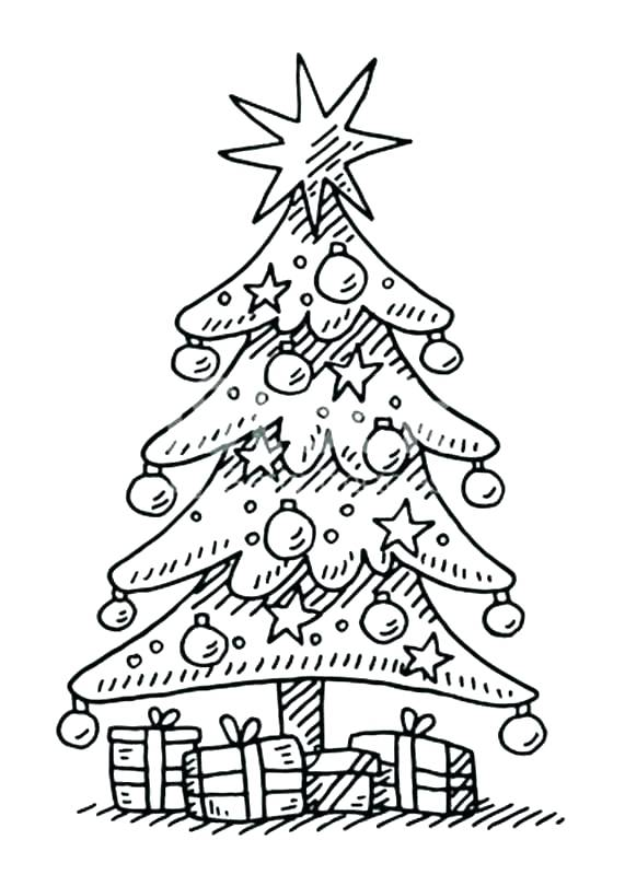 571x800 Christmas Tree Coloring Page