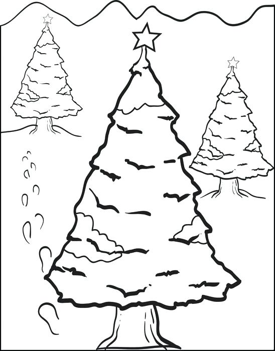 548x700 Christmas Tree Coloring Pages For Kids