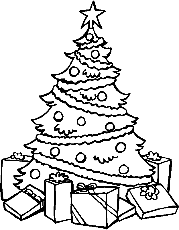 625x800 Best Christmas Tree Coloring Pages Merry Christmas Free