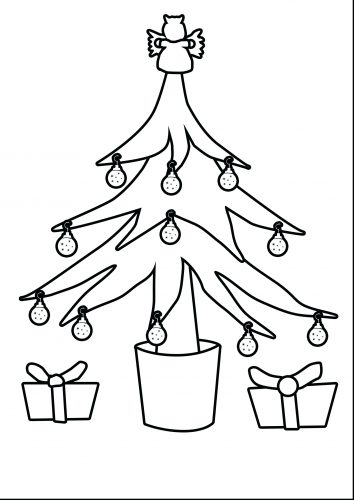 354x500 Coloring Pages Christmas Tree Coloring Page Template Free
