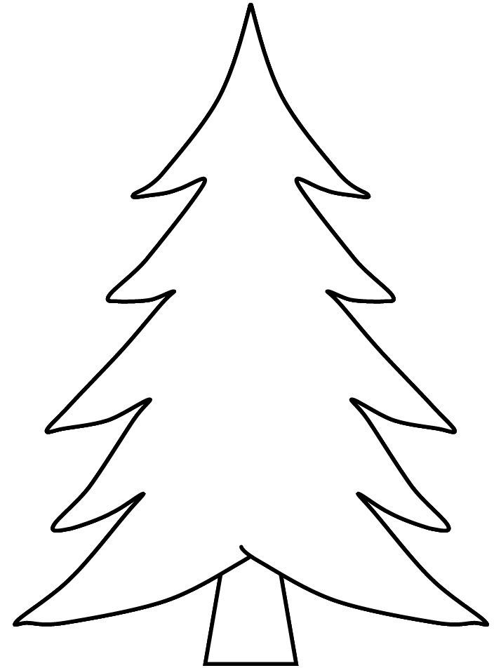 714x952 Blank Christmas Coloring Pages