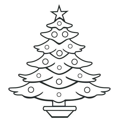 500x500 Blank Christmas Tree Coloring Page Medium Size Of Tree Coloring