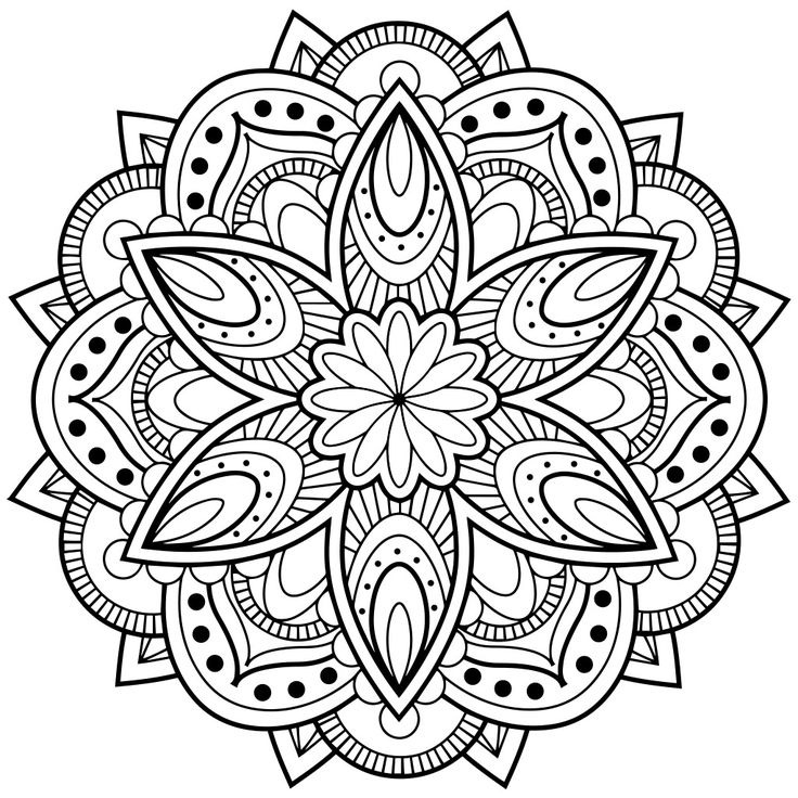 736x736 Printable Mandala Coloring Pages For Adults World Of Printable
