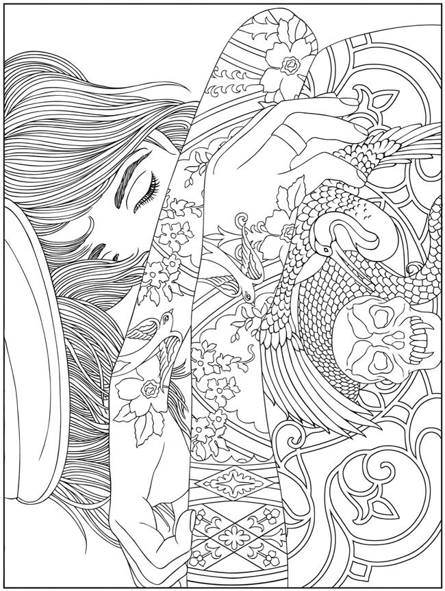 650x863 Welcome To Dover Publications Body Art Tattoo Designs Coloring