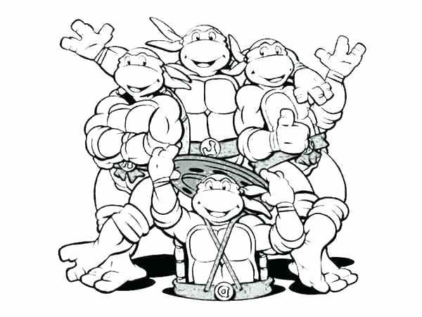 600x450 Ninja Turtle Coloring Sheets As Well As Teenage Mutant Ninja