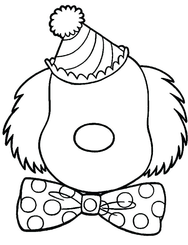 600x783 Blank Face Coloring Page Clown Face Coloring Page Blank Clown Face