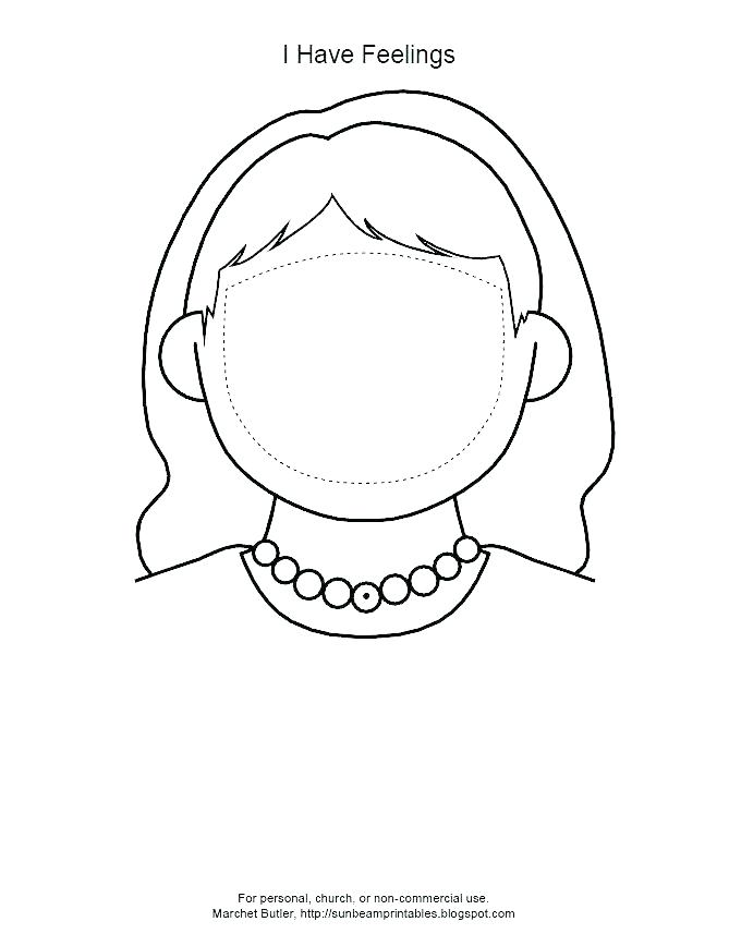 669x868 Blank Face Coloring Page Girl Face Coloring Page Blank Face