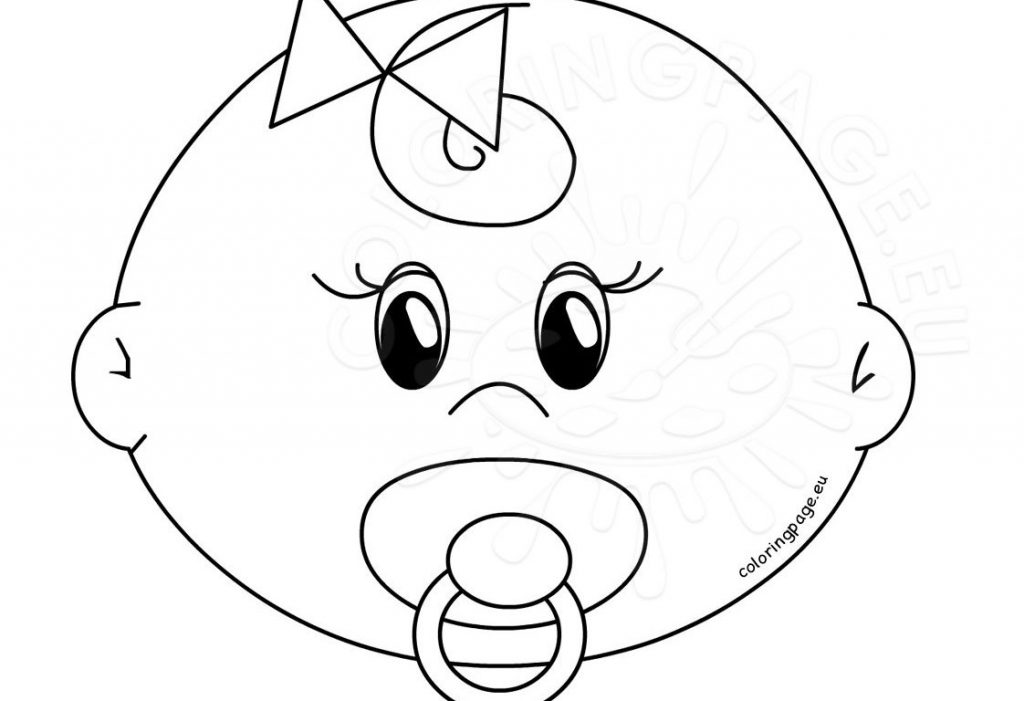 1024x701 Blank Face Coloring Page