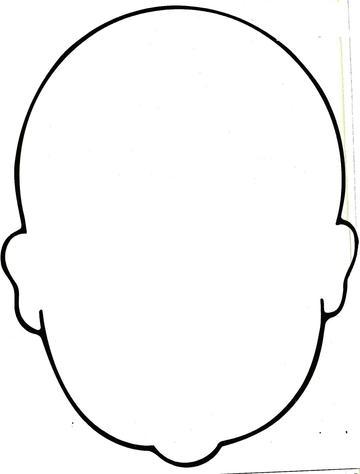 1214x1600 Blank Face Coloring Page
