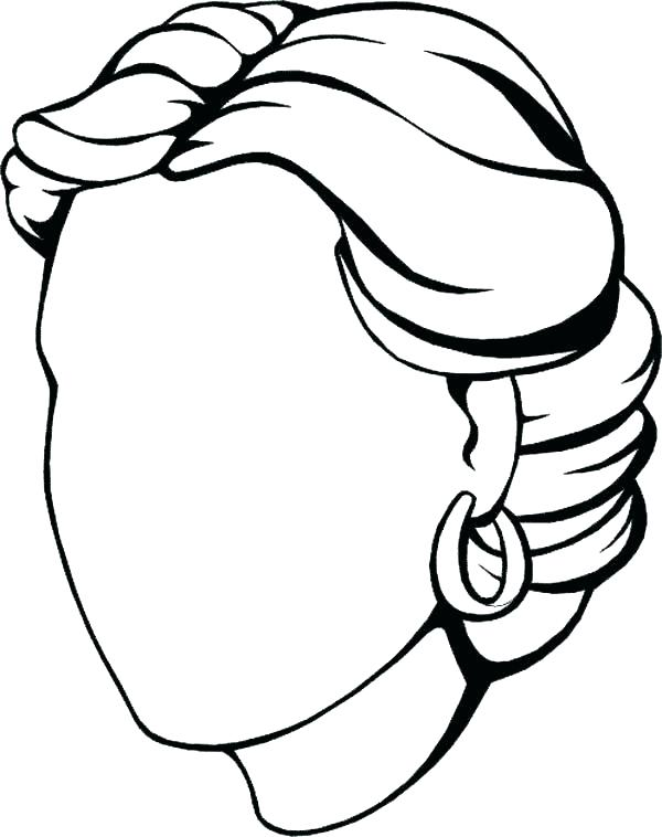 600x758 Face Coloring Pages Blank Face Coloring Page Mesmerizing Blank