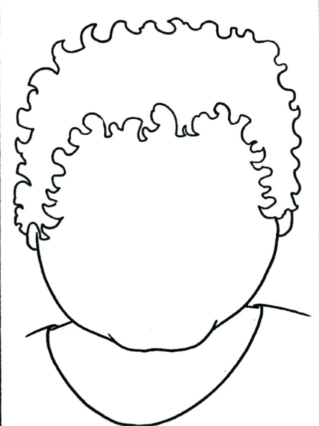 640x854 Blank Face Coloring Page