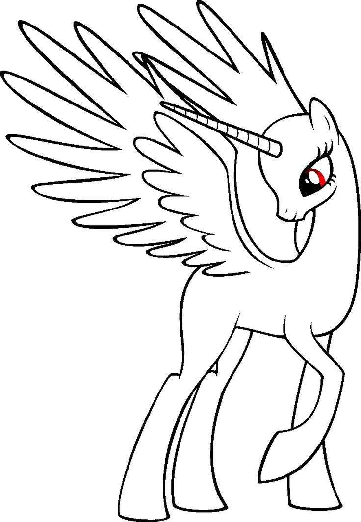 Blank My Little Pony Coloring Pages