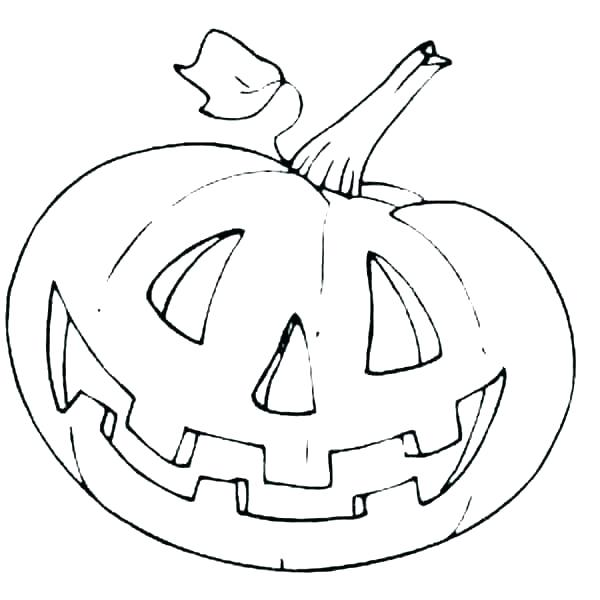 600x600 Coloring Pages Pumpkin Blank Pumpkin Printable Coloring Page Kids