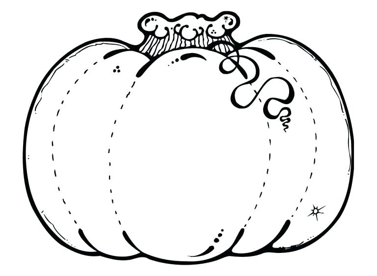 768x562 Blank Pumpkin Coloring Page