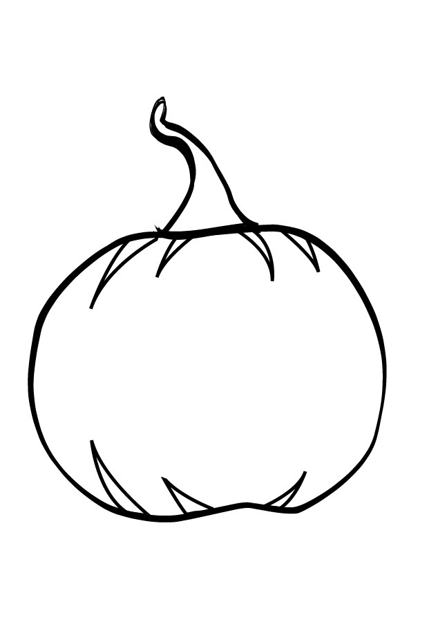 634x900 Blank Pumpkin Coloring Pages Free Printable Pumpkin Coloring Pages