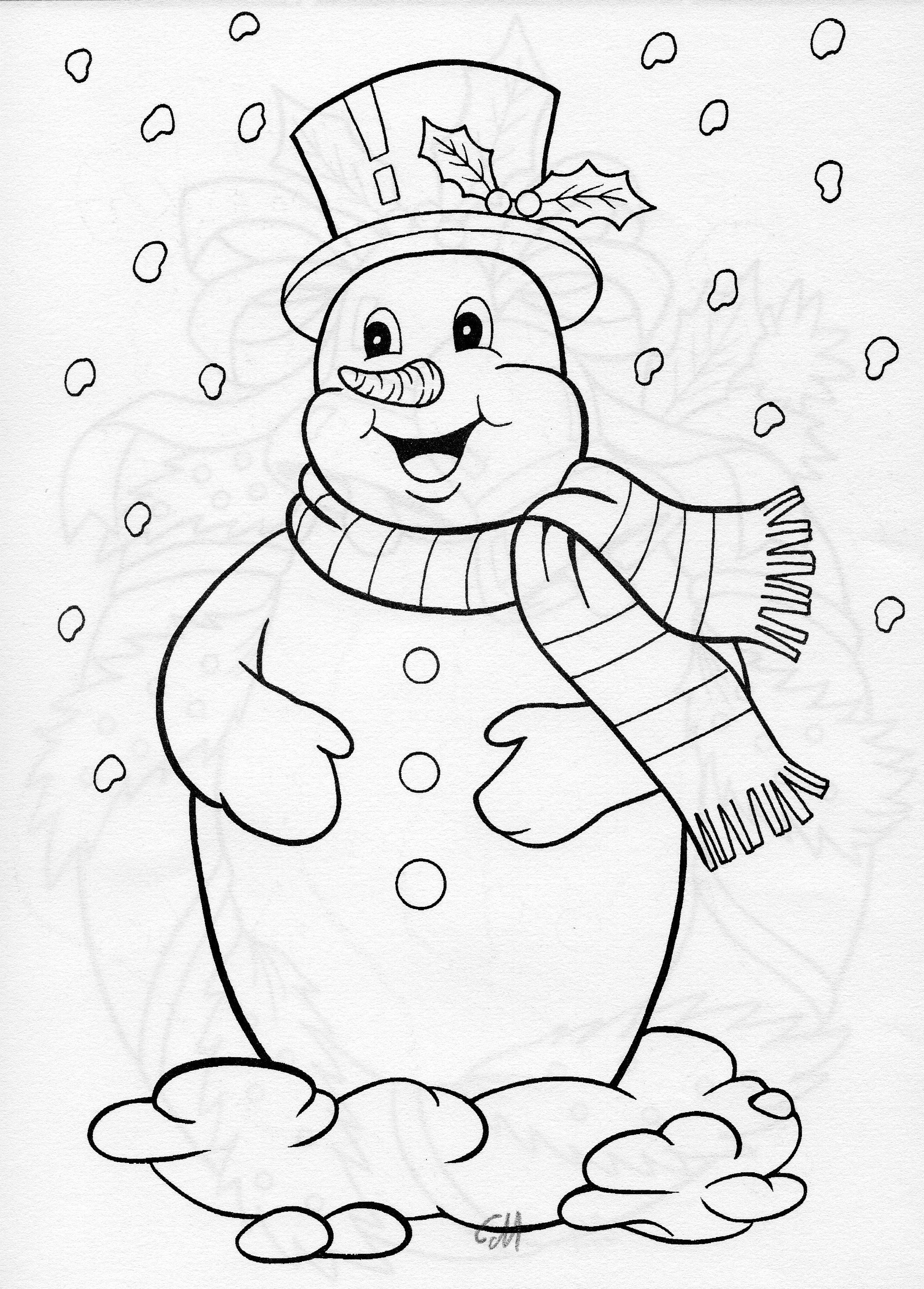 2097x2924 Cool Jolly Snowman Blanks Coloring Free Coloring Pages