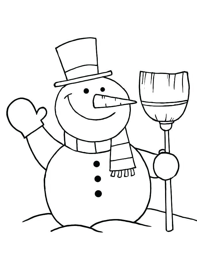 685x886 Cute Snowman Coloring Pages Blank Snowman Coloring Together